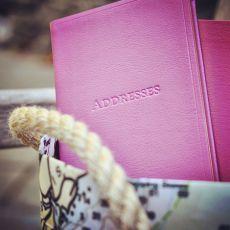 Leather Pocket Address Book