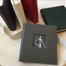 Leather Travel Photo Album with Window