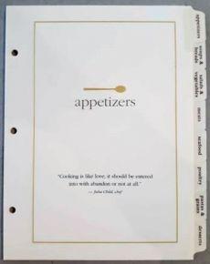 Recipe Tab Divider Set Item # 18783