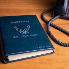 USAF Leather Desk Address Book