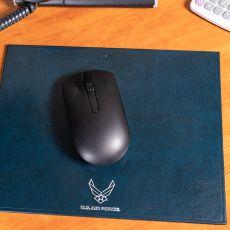 USAF Landscape Leather Mouse Pads
