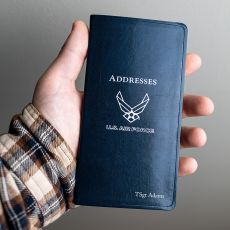"USAF Leather Pocket Address Book - 6"" x 3.25"""