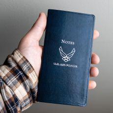 """USAF Leather Pocket Notes - 6"""" x 3.25"""""""